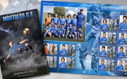 Diseño de cromos de fútbol. Realización de album de cromos para equipos de futbol de niños.