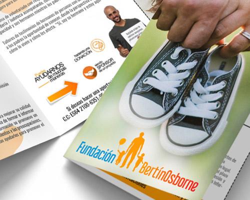 Flyer para la Fundación Bertín Osborne
