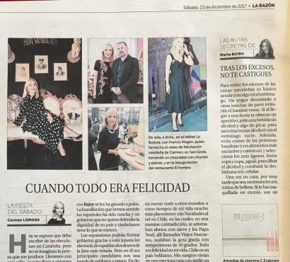 Francis Magán apareció con Carmen Lomana en el diario La Razón