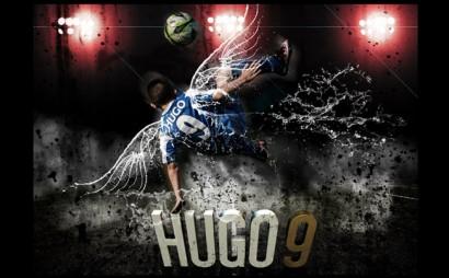 Poster personalizado para jugador de futbol con efectos especiales y efectos 3D